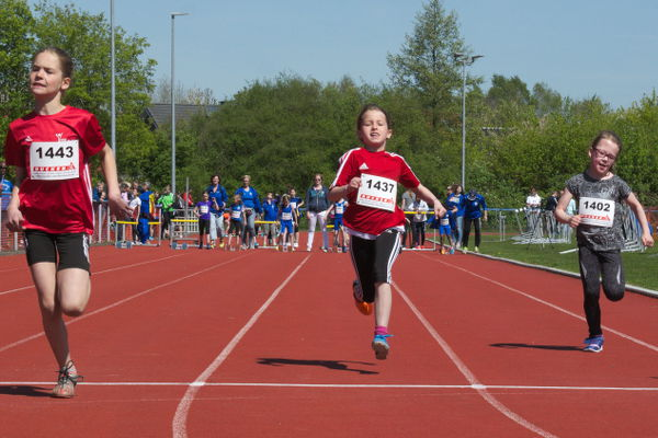 Elaine in ihrem 50m Sprint.